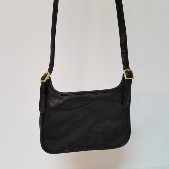 Giani Bernini Handbags - Genuine Black Leather Cross Body Bag
